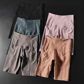 蜜桃提臀運動五分褲女彈力緊身翹臀瑜伽中褲速干高腰跑步健身短褲