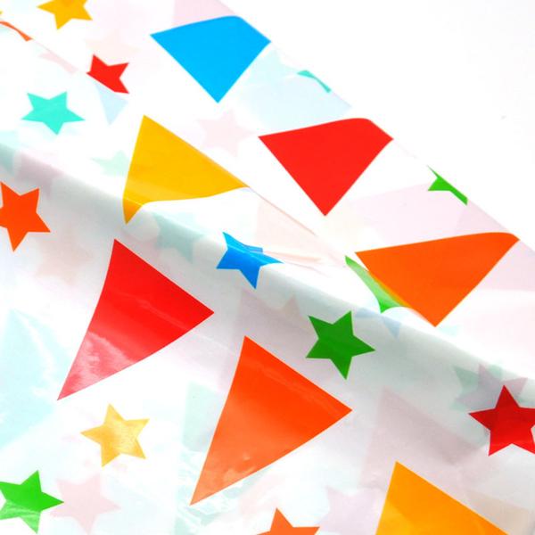 [韓風童品]一次性三角旗星星圖案桌布  派對桌巾 防水防油加厚桌布 生日派對  露營桌布 會場佈置