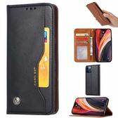 iPhone12 Pro Max Mini 外卡夾手機套 磁扣翻蓋 可立式 手機套 全包防摔手機殼 保護套 可插卡皮套