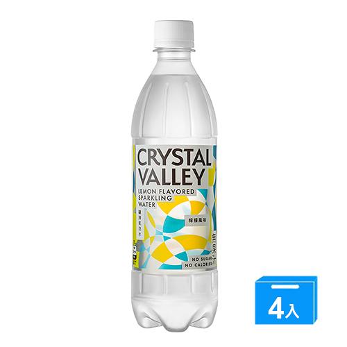 礦沛氣泡水檸檬風味585ML x 4【愛買】