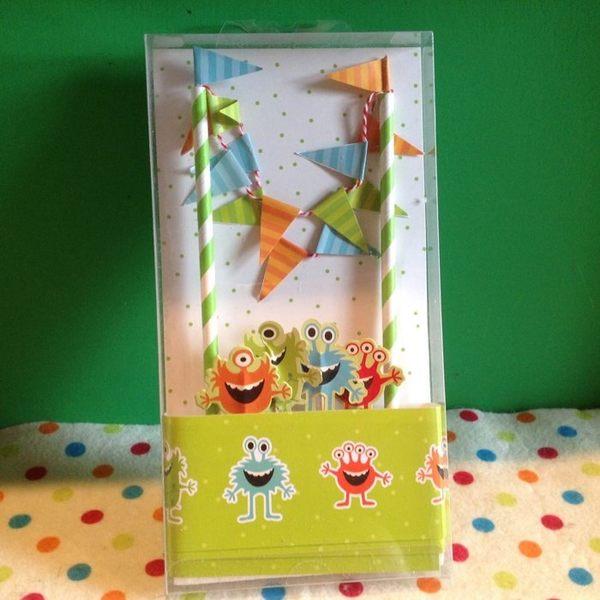 【發現。好貨】小怪獸怪物甜品桌布置插牌創意生日蛋糕小插旗插卡小拉旗蛋糕佈置派對用品