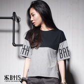 【BTIS】OVER SIZE 短版T-shirt / 黑色