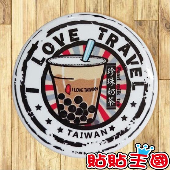 【胸章】珍珠奶茶郵戳 # 宣傳、裝飾、團體企業 多用途胸章 5.8cm x 5.8cm