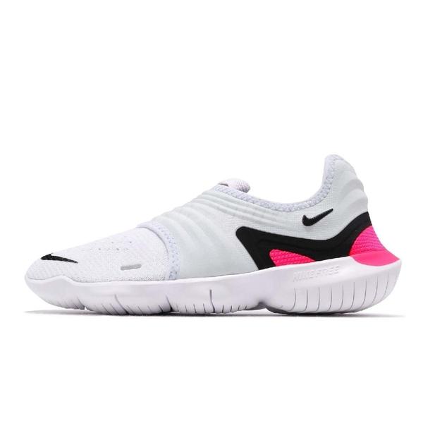 【四折特賣】Nike 慢跑鞋 Wmns Free RN Flyknit 3.0 灰白 桃紅 黑勾 女鞋 運動鞋 【PUMP306】 AQ5708-401