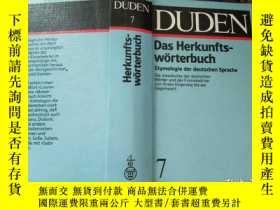 二手書博民逛書店Duden,罕見Bd. 7: Das Herkunftswörterbuch: Etymologie der de