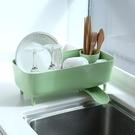 日本放碗架瀝水架洗碗池家用廚房水槽晾碗盤子架子碗碟收納置物架 亞斯藍
