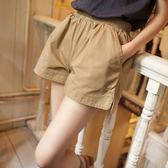 休閒運動短褲 女夏天大碼寬鬆純棉休閒褲鬆緊腰修身闊腿顯瘦運動褲 優帛良衣