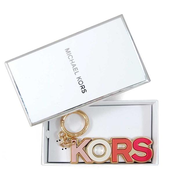 MICHAEL KORS Charms Resin品牌字母鎖圈吊飾(粉色、含禮盒)-32T8GXCL5P