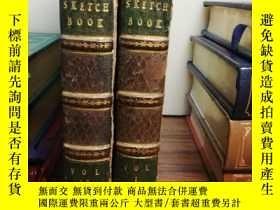二手書博民逛書店1821年罕見The Sketch Book 2本全 有簽名 1