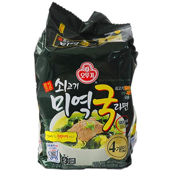 韓國不倒翁 牛肉海帶湯拉麵(115gx4包)【小三美日】泡麵/進口/團購