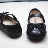 新款內里童鞋方格蝴蝶結女童小皮鞋軟底1-4歲寶寶春秋時尚鞋 滿天星