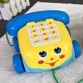寶寶電話機玩具0-1-3歲嬰幼兒童仿真座機 早教多功能音樂益智手機 igo 伊衫風尚