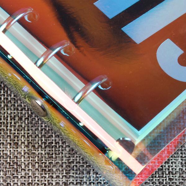 【BlueCat】PVC透明鈕扣式6孔活頁文件夾 (A5)