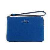 【COACH】L型皮革拉鍊手拿包(亮藍) F58032 SVA7