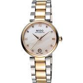 MIDO 美度 Baroncelli 優雅羅馬真鑽機械女錶-珍珠貝x玫瑰金/33mm M0222072211600