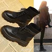 馬丁靴女英倫風年新款春秋單靴秋季秋冬秋鞋內增高瘦瘦短靴子 快速出貨