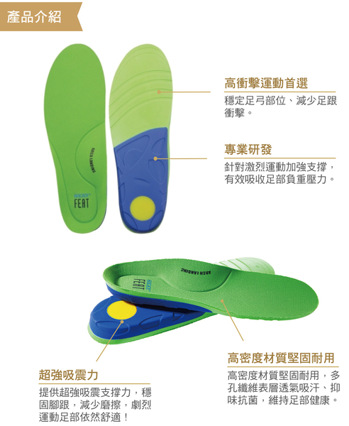 【Neat Feat 樂活適】 運動選手保護型鞋墊 紐西蘭 原裝公司貨 男女適用