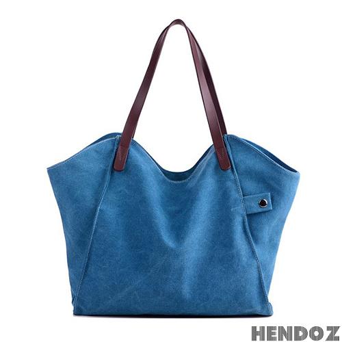 帆布包-HENDOZ.文青風大容量造型托特包(共二色)1205