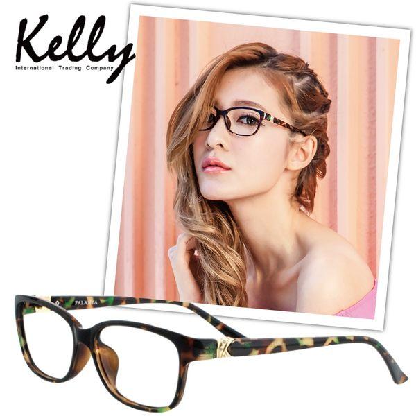 【福利品】Fendi類似款平光眼鏡/光學眼鏡/近視眼鏡(花彩8024-C10)