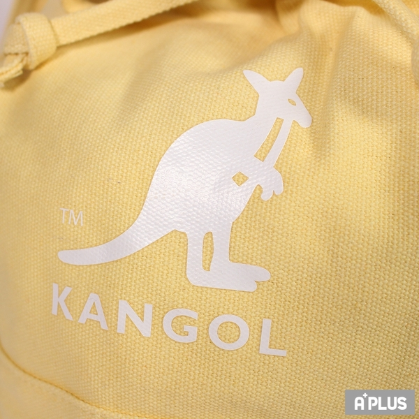 KANGOL 包 兩用尼龍水桶手提包 側背包 黃 袋鼠包 - 6925300761