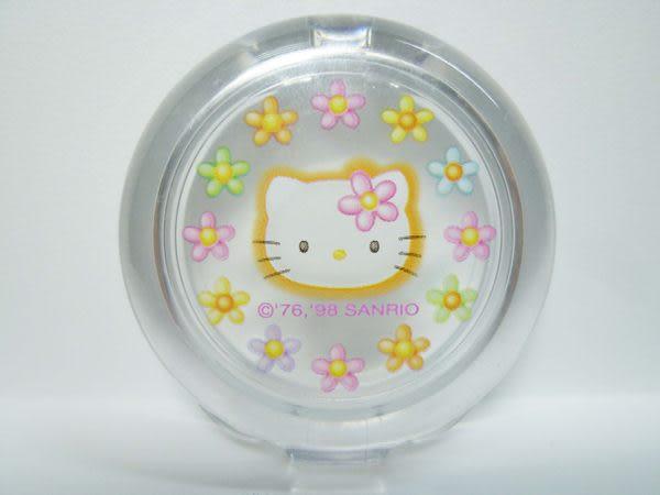 【震撼精品百貨】Hello Kitty 凱蒂貓~口紅盒口紅盤唇蜜盒粉餅盒空盒『花花』