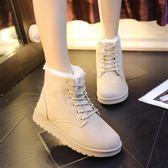 雪靴雪地靴女學生鞋短靴百搭韓版平底鞋雪靴