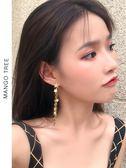 耳環   一款兩戴顯臉瘦長款流蘇耳環耳夾韓國五角星星后掛式耳釘