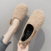 懶人鞋 加絨豆豆鞋女毛毛鞋秋冬新款外穿懶人一腳蹬羊羔毛網紅棉鞋瓢【【八折搶購】】