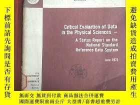 二手書博民逛書店critical罕見evaluation of data in the physical sciences(P30
