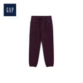 Gap男童柔軟針織襯裏鬆緊腰束口運動褲494137-紅木色