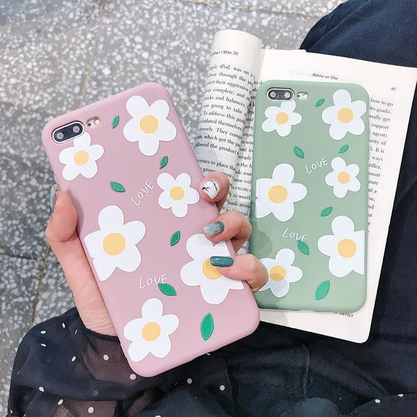 【SZ14】糖果小清新花朵全包軟殼 iphone xs max手機殼 xr防摔手機殼 iphone 8 plus手機殼 i6s plus 手機殼