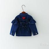0-1-2-3歲4女寶寶外套秋裝女童牛仔公主洋氣夏季裝季6個月9兒童衣服