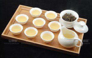 象牙白玉瓷茶道10件套