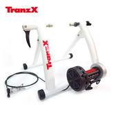 Tranz X 磁阻式訓練台JD-118 白色/城市綠洲(腳踏車.健身車.訓練台.立車架.自行車訓練器)