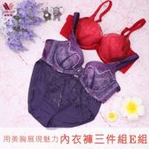 華歌爾-雙11大省團美胸 B-E 內衣褲3件組(E組)用美胸展現魅力-限時優惠QB1111-AE