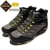 Merrell 戶外鞋 Moab FST Mid GTX 黑 黃 Gore-Tex 健走 登山鞋 男鞋【PUMP306】 ML37565