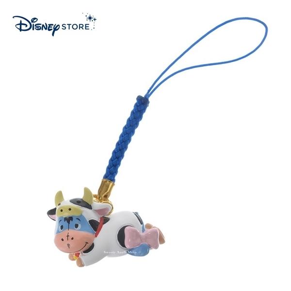 【SAS】日本限定 迪士尼商店 Disney Store 小熊維尼家族 屹耳 新年 牛年生肖 手機吊飾 / 公仔吊飾