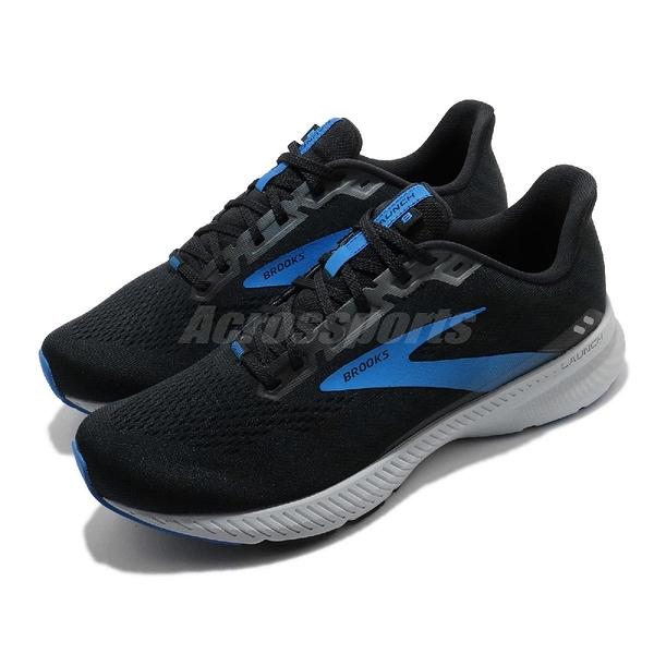 Brooks 慢跑鞋 Launch 8 2E Wide 寬楦頭 黑 藍 男鞋 運動鞋 發射系列 DNA科技【ACS】 1103582E018