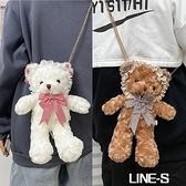 jk娃娃小熊包包女洋斜背包/側背包可愛日系公仔兒童洛麗塔兔熊包少女
