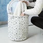 ✭慢思行✭【N309】棉麻花樣收納籃 收納桶 髒衣籃 洗衣籃 防水 衣物 玩具 雜物 分類