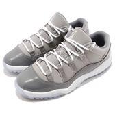 Nike Air Jordan 11 Retro Low BP Cool Grey 喬丹 11代 低筒 灰 白 麂皮 童鞋 中童鞋【PUMP306】 505835-003