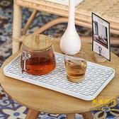 放杯子的托盤家用杯架瀝水架茶杯茶具裝玻璃杯收納盒【輕奢時代】