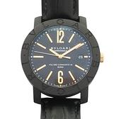BVLGARI 寶格麗 Bvlgari Bvlgari BB 40 CL 黑色碳纖維自動上鍊腕錶 【BRAND OFF】
