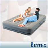 INTEX舒適雙層內建幫浦充氣床-寬152cm(64117N)