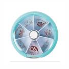 正版 野原新之助 蠟筆小新 旋轉萬用盒 旋轉藥盒 收納盒 七格旋轉盒 藍色款 COCOS KS100
