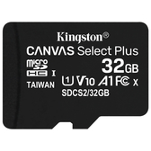 Kingston 金士頓 Canvas Select Plus microSDHC 32GB 記憶卡 含SD轉接卡(SDCS2/32GB)
