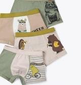 兒童純棉內褲男童全棉平角褲寶寶小童12男孩中大童15歲四角褲短褲 滿天星
