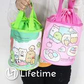 〖LifeTime〗﹝角落生物圓筒束口便當袋﹞正版手提餐袋 便當袋 手提包 保溫袋 白熊 炸豬排 B19114