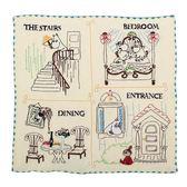 日本 Moomin 嚕嚕米四格純綿小方巾989257