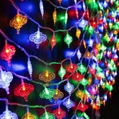 新年彩燈 閃燈串裝飾戶外過年室外樹七彩色七彩燈掛燈結婚春節新年裝飾燈T 3色